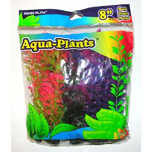 PENN PLAX Műnővény szett 20,3cm 6db különböző színű növénnyel