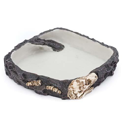 PENN PLAX REPTOLOGY kerámia etető/itató tál hüllőknek 18x18x4cm