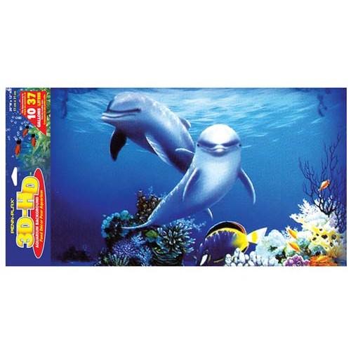PENN PLAX Akvárium 3-D háttér 51x30,5cm Delfínek
