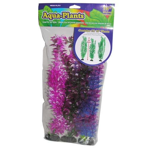 PENN PLAX Műnövény 40,6cm szett 3db színes növények