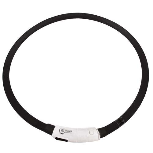 TP Szilikon LED világító nyakörv USB töltéssel 1,0x70cm allítható nagysággal kutyáknak