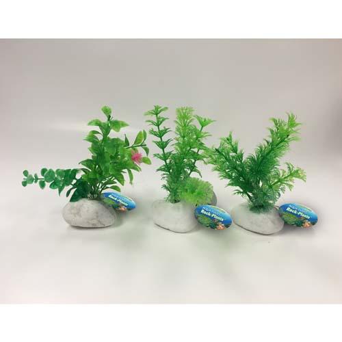 PENN PLAX Műnövények sziklán 15,2cm zöld növények