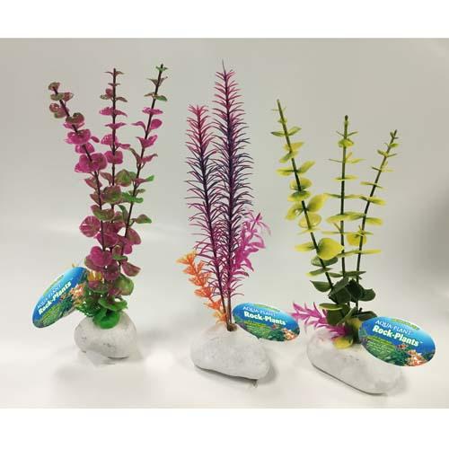 PENN PLAX Műnövények sziklán 30,5cm színes növények