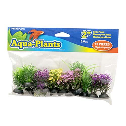 PENN PLAX Műnővény szett Betta 5 cm 12db különböző színű növénnyel