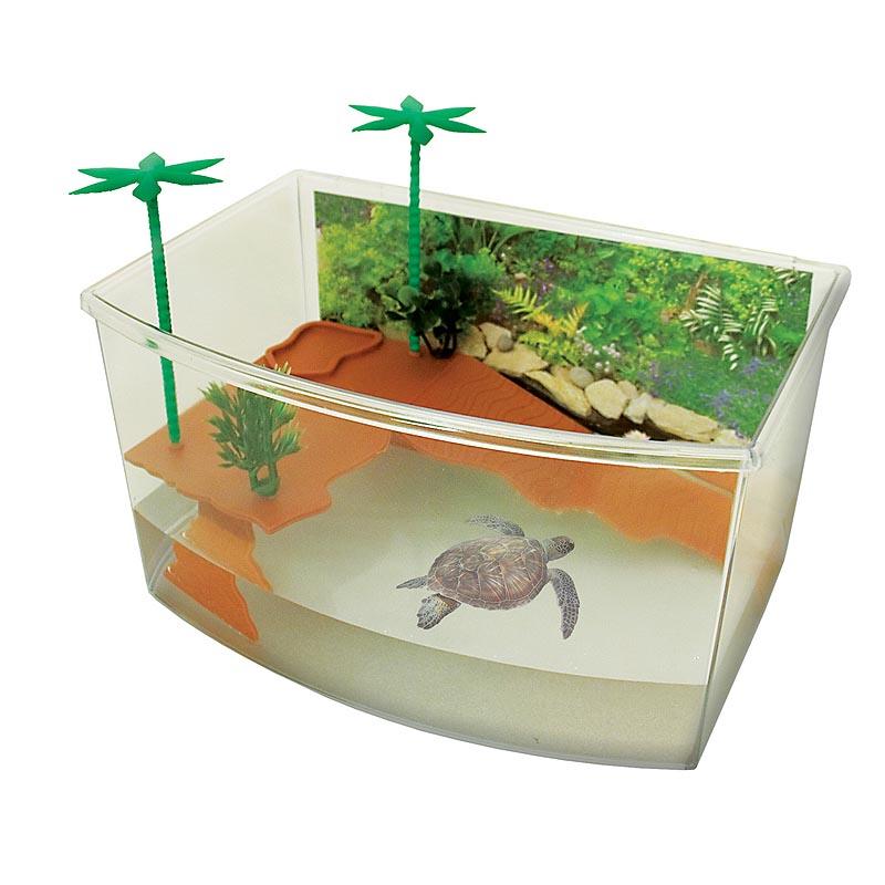 COBBYS PET Teknőstál 27x19x15cm  5,5 liter szigettel és pálmákkal