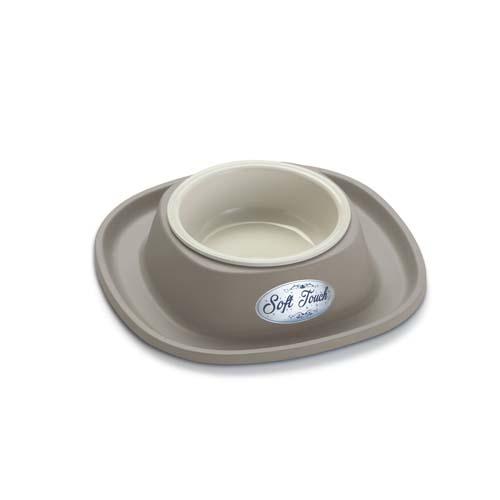 COBBYS PET Soft Touch PP 20x20x3,5cm táltartó gumiból műanyag tállal 0,23l