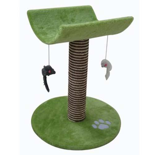 COBBYS PET CATTY Macskakaparó 53cm zöld fekvővel és játékokkal