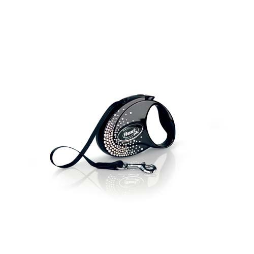 flexi Glam Splash Crystal szalag S 3m fekete 12kg SWAROVSKI®