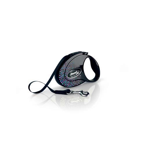 flexi Glam Splash Mystic szalag S 3m fekete 12kg SWAROVSKI®