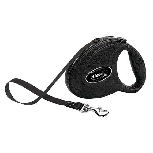 flexi Leather szalag M 5m fekete kecske bőr 25kg