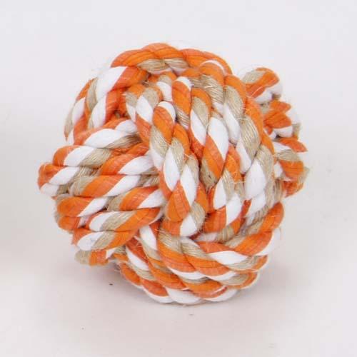 LES FILOUS Colored knot ball, Jute-cotton 7cm 90g