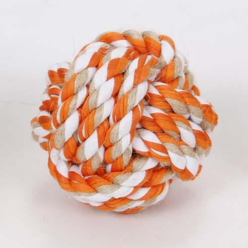 LES FILOUS Colored knot ball, Jute-cotton 9cm 120g