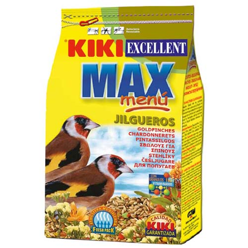 KIKI MAX Menü Goldfinches 500g ZIP aprópinty eleség