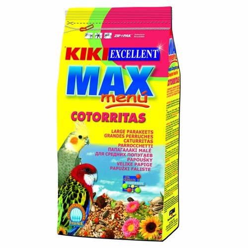 KIKI MAX Menü Cockatiel  500g ZIP nimfa és agapornisz eleség