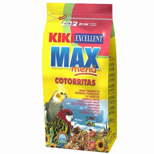 KIKI MAX Menü Cockatiel 1kg nimfa,agapornisz táp