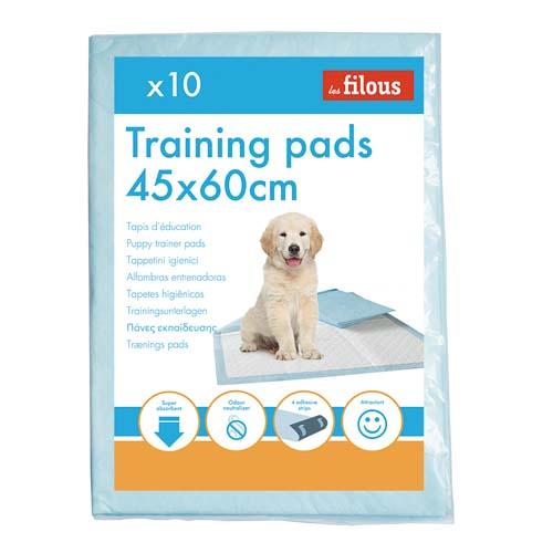LES FILOUS 45x60cm Pelenka kutyakölyköknek öntapadóval a 4 sarkán + speciális semlegesítő betét10db