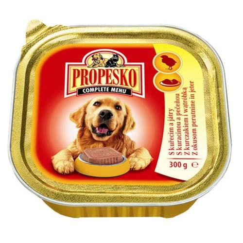 PROPESKO Dog Pate 300g baromfi+máj alutálca kutyáknak