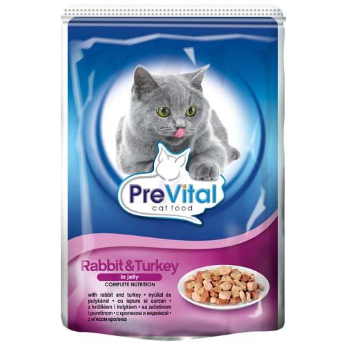 PreVital alutasak macskáknak 100g nyúl és pulyka aszpikban