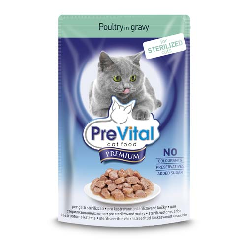 PreVital Premium alutasak ivartalanított macskáknak 100g cszirke aszpikban
