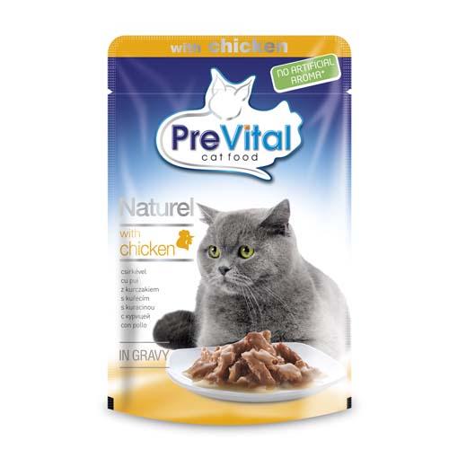 PreVital Premium Naturel alutasak macskáknak 85g csirke szószban