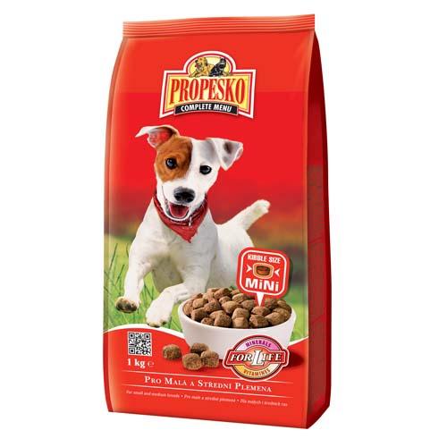 PROPESKO MINI 1kg szárazeledel kis- és közepes termetű kutyák részére