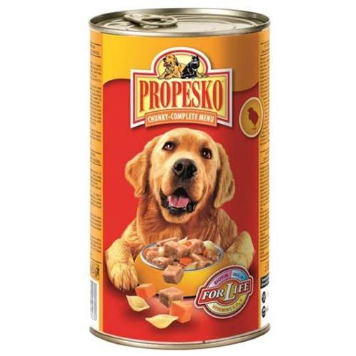 PROPESKO Kutyakonzerv 1240g csirkehús, sárgarépa, tészta