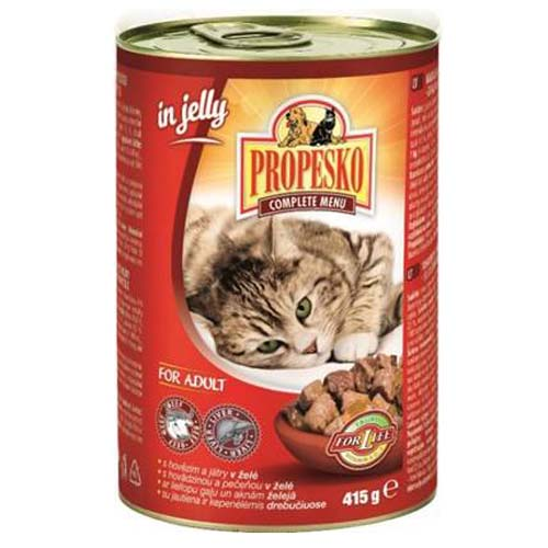 PROPESKO macskatáp 415g marhahús és máj zselében