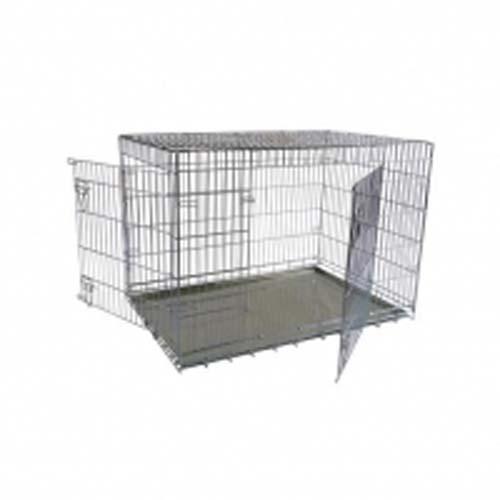 PAPILLON Fém szállítóbox két ajtóval kutyáknak 87 x 58 x 67 cm
