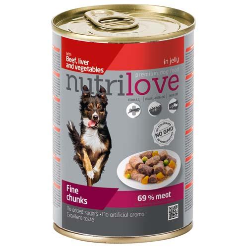 Nutrilove Dog konzerv 415g