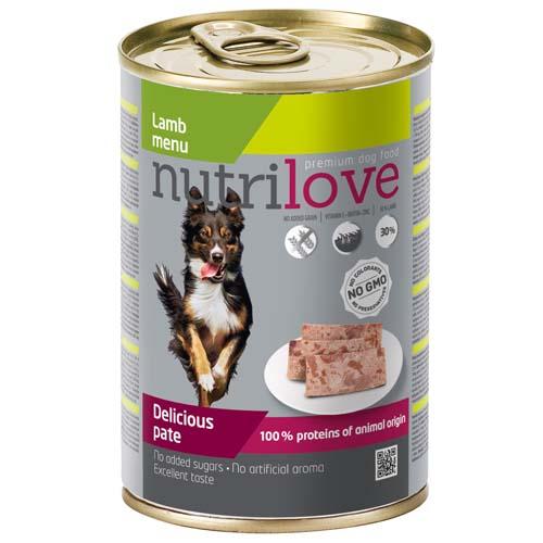 Nutrilove Dog Pate Lamb 400g