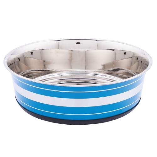 LES FILOUS Heavy Striped Bowls w/ Removable Rubber Ring, 0,525L, 14,5cm