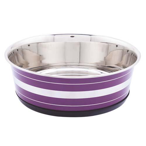 LES FILOUS Heavy Striped Bowls w/ Removable Rubber Ring, 2,70L, 24cm