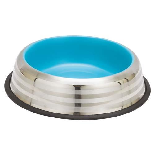 LES FILOUS Striped bowl w/ Removable Rubber Ring & Color Inside, 0,47L, 20cm