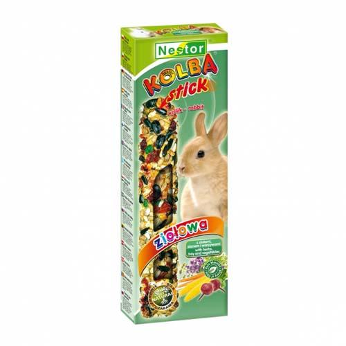 NESTOR Rúd  nyulaknak gyógynövényekkel,szénaval és zöldséggel  2db