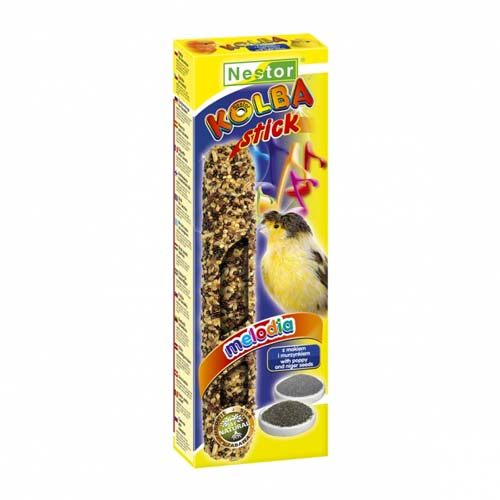 NESTOR Rúd kanáriknak mákkal és niger magokkal 2db