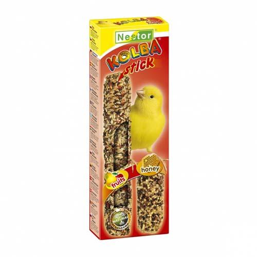"""NESTOR Rúd """"2 in 1""""  kanáriknak  méz és gyümölcs 2db"""