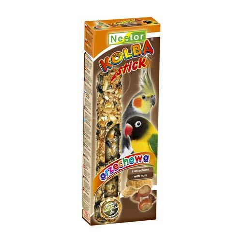 NESTOR Mogyoró rúd papagájnak 2ks