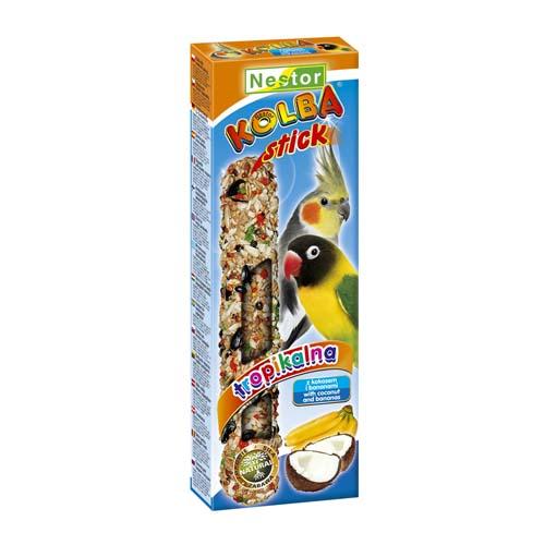 NESTOR Banán+kókusz rúd papagájnak 2db