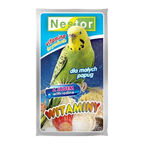 NESTOR VITAMIN IODINE vitaminok jóddal hullámos papagájnak 20g