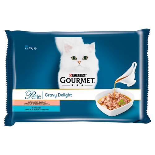 GOURMET PERLE  Multipack 4x85g Gravy Delight lazac és tonhal mártásban