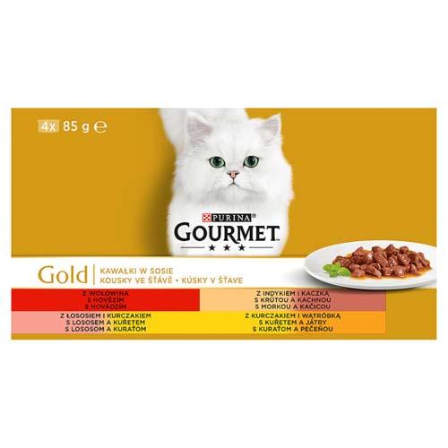 GOURMET GOLD 4x85g marhahús