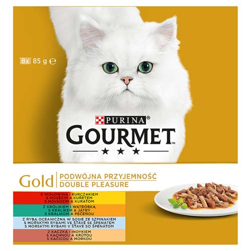 GOURMET GOLD DUO 8x85g marha&csirke