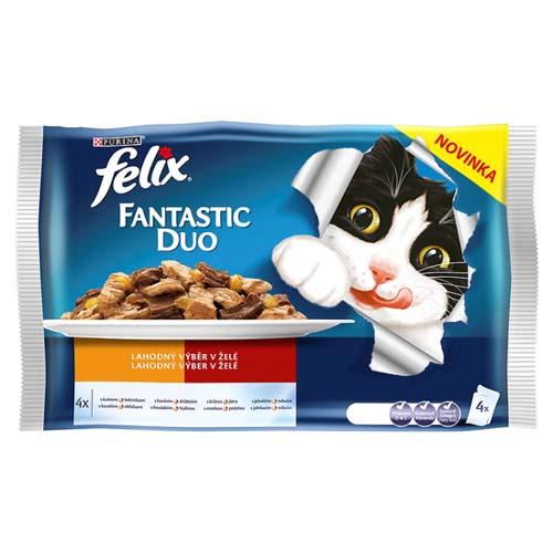 FELIX Fantastic DUO mäsový výber 4x100g