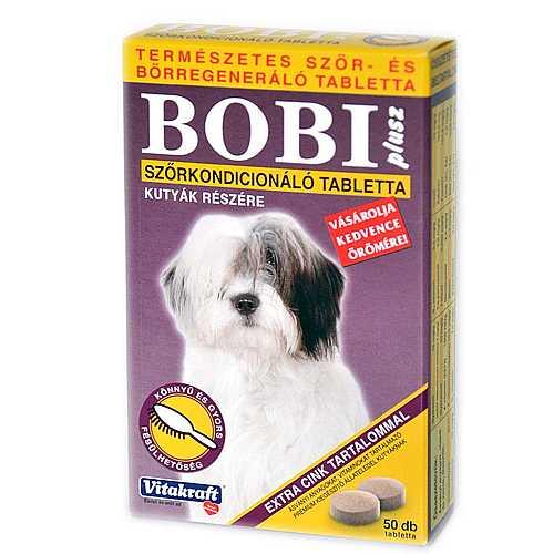 BOBI PLUSZ szőrkondícionáló tabletta kutyának 50tbl.