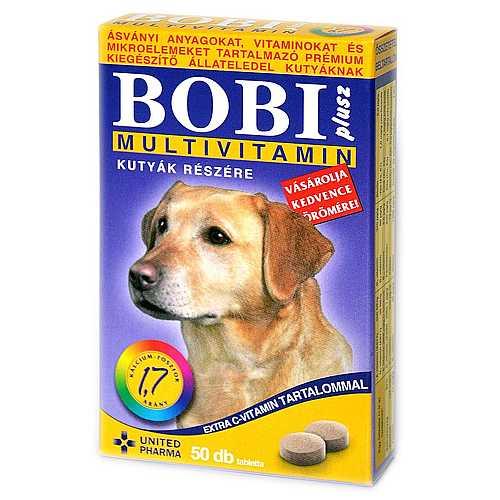 BOBI PLUSZ multivitamin  tabletta kutyának 50tbl.