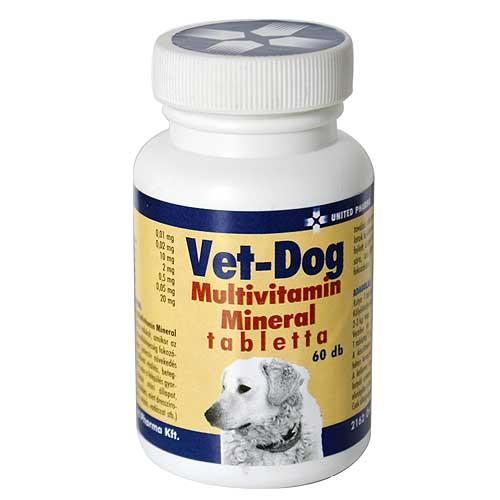 UNITED PHARMA VET-DOG multivitamín tabletta 60db, kutyáknak