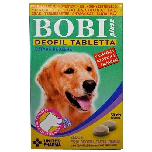 BOBI PLUS DEOFIL tabletta 50db a kellemetlen test- és szájszag megszüntetésére