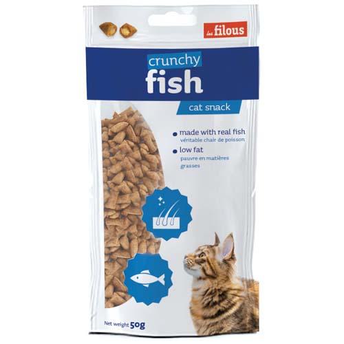 LES FILOUS Crunch DEEP SEA FISH 50g ropogós párnácskák hallal töltve macskáknak