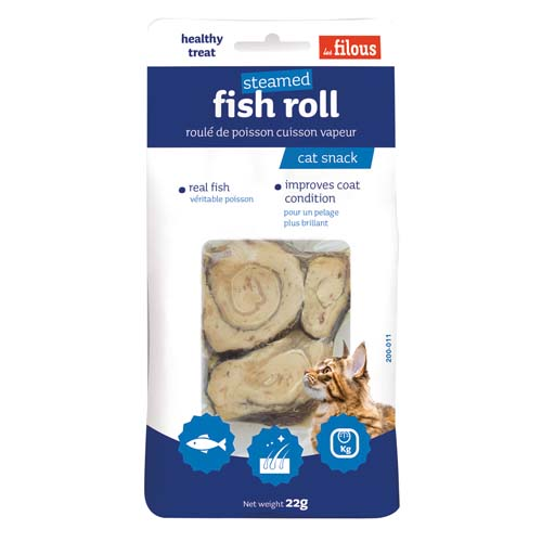 LES FILOUS FISH ROLL 22g párol hal tekercsek igazi halakból