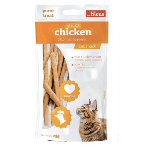 LES FILOUS CHICKEN STICKS 25g